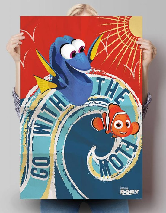 REINDERS Finding Dory - go with the flow - Poster - 61x91,5cm