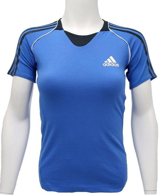 T-shirt Adidas Pres S/S Tee G85920, Vrouwen, Blauw, T-shirt maat: 38 EU