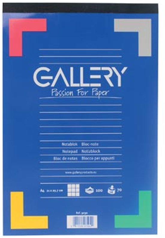 bol | gallery schrijfblok formaat 21 x 297 cm (a4) geruit 5 mm