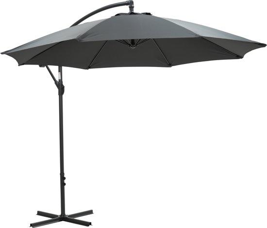 Garden Impressions - Parasol - Athene - Ø300 cm - Frame royal grey - donkergrijs