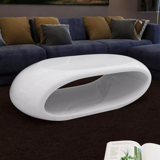 vidaXL - Hol Design - Salontafel - Wit