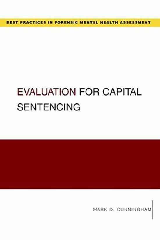 Boek cover Evaluation for Capital Sentencing van Mark Cunningham (Paperback)
