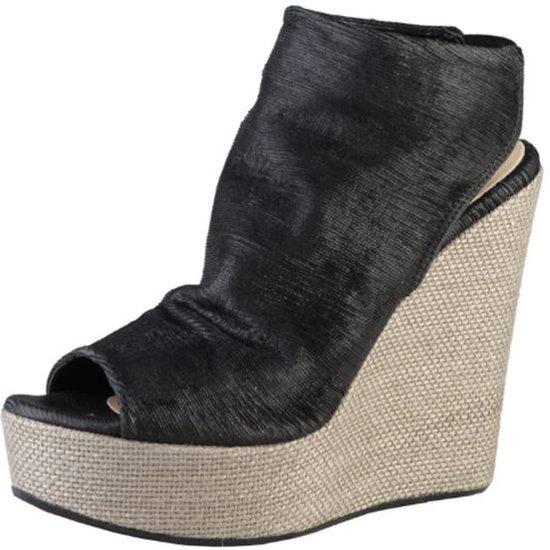 Made in Italia Dames Sandalen - Zwart/Beige - Maat 40
