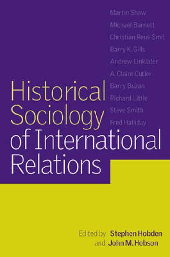 Historical Sociology of International Relations