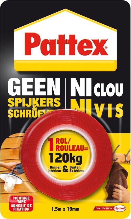 Pattex Montagetape - Dubbelzijdig - 150x1,9 Cm