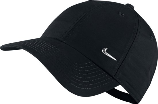 Nike Metal Swoosh Cap Cap Unisex - Black/(Metallic Silver)