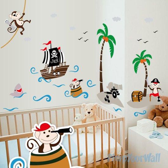 Muurstickers Kinderkamer Piraat.Bol Com Muursticker Piraten