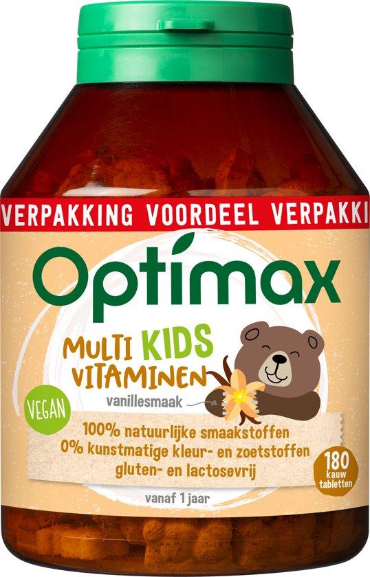 Optimax Kinder Multi naturel - 180 Kauwbeertjes - Multivitamine
