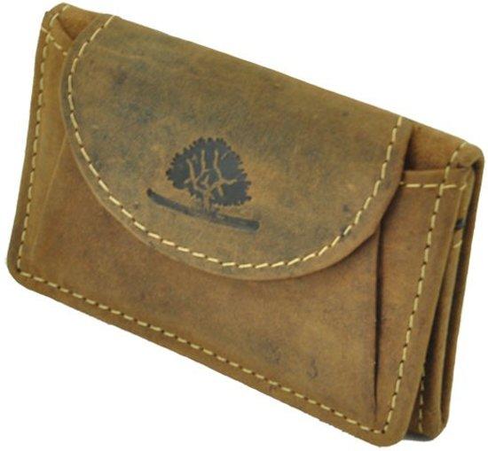 578541865e6 bol.com | GreenBurry Reno - mini-portemonnee van vintage bruin leer
