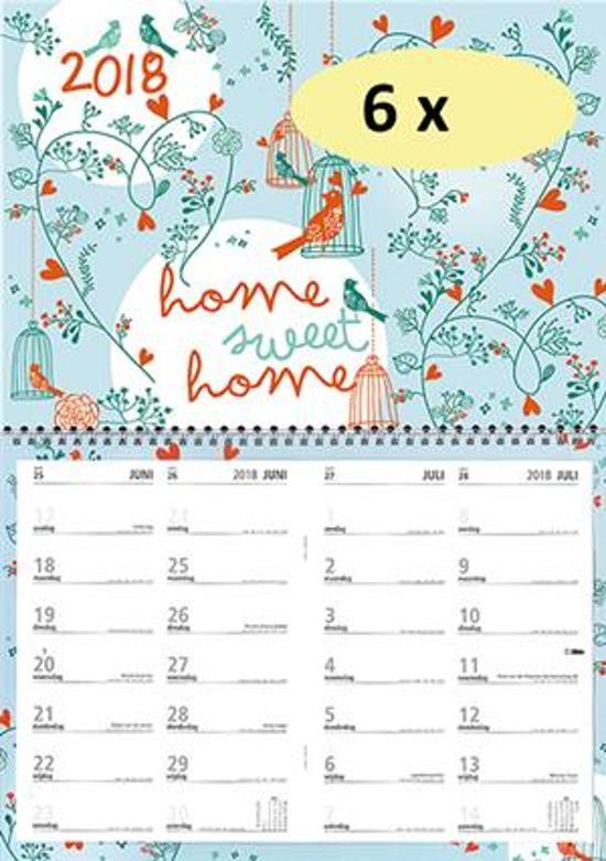 Kalender MGP 2018 - Notitie Omleg maand - 4 weken/1 pagina - 43 x 34 cm
