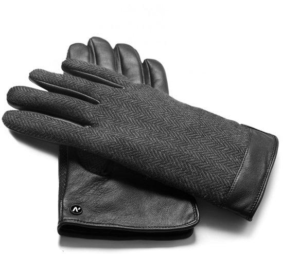 napoGENT Echt lederen touchscreen handschoenen | Grijs | maat L