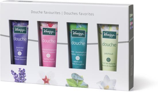 Kneipp Douche Favourites Huidverzorging geschenkset - 4x 75 ml - Unisex Valentinaa