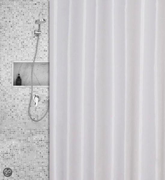 Roomture - douchegordijn - wit - 180 x 200 cm