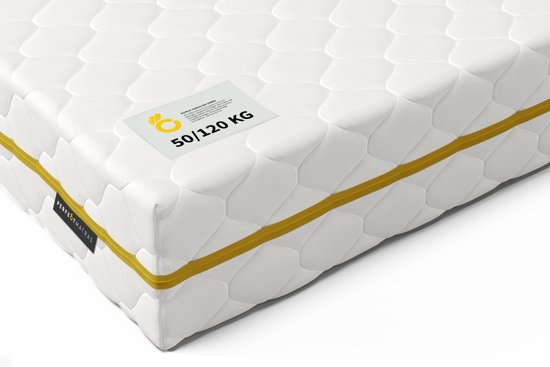 Pocketvering Matras tot 120 kg  70 x 200 cm - 7 Comfort Zones & Cocomat