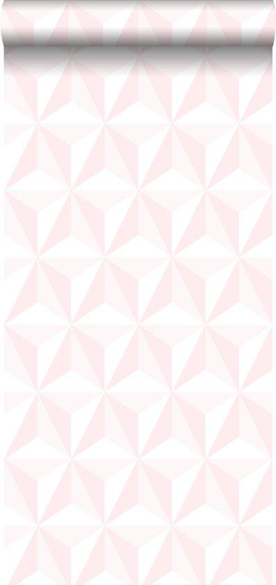 Behang Steigerhout Motief.Estahome Behang Grafisch 3d Motief Licht Roze 138911