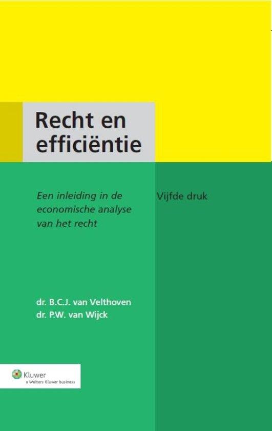 Recht en efficientie - B.C.J. van Velthoven