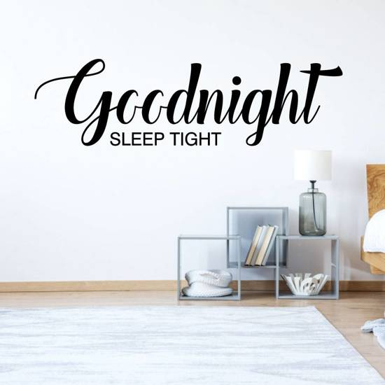 bol.com | Muursticker4sale Slaapkamer sticker Goodnight sleep tight
