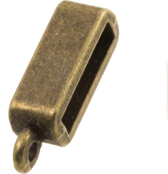 Rectangle Tussenstuk (Binnenmaat 10 x 2 mm) Brons (5 Stuks)