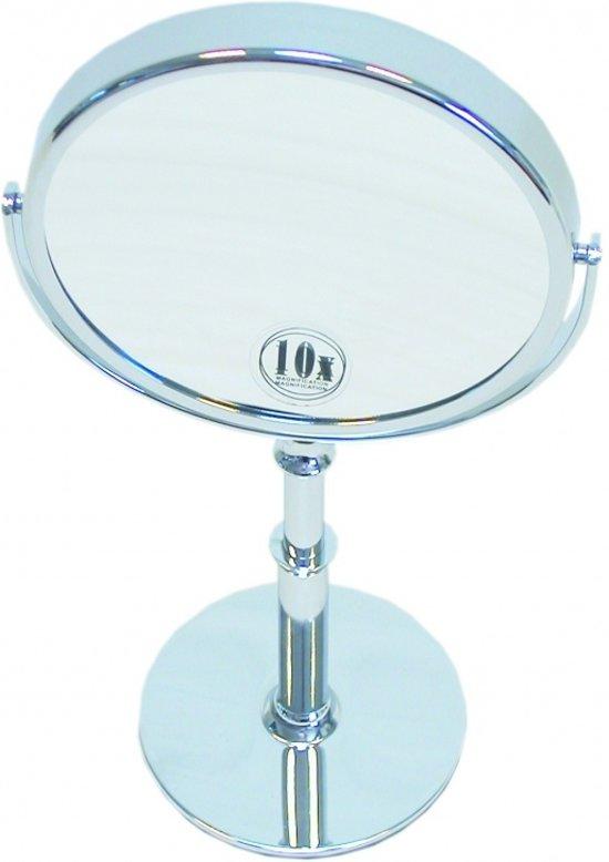 bol.com | Staande + hand Make-up spiegel zilver Ø15cm Vergroting: 10x
