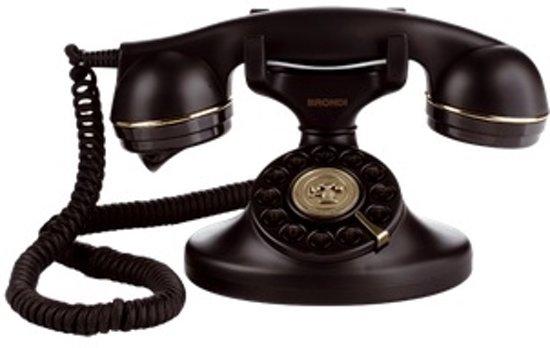 BRONDI Vintage 10 Klassieke retro analoge telefoons, zwart