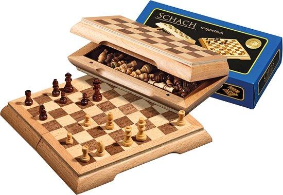 Philos reis schaakset magnetisch, 17mm veld.