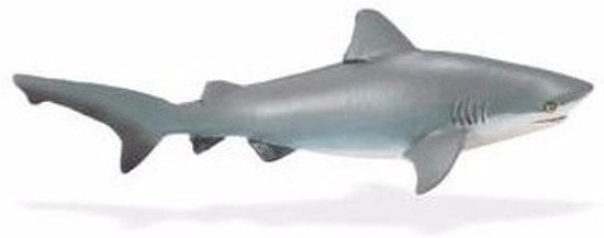 Plastic speelgoed stierhaai 14 cm