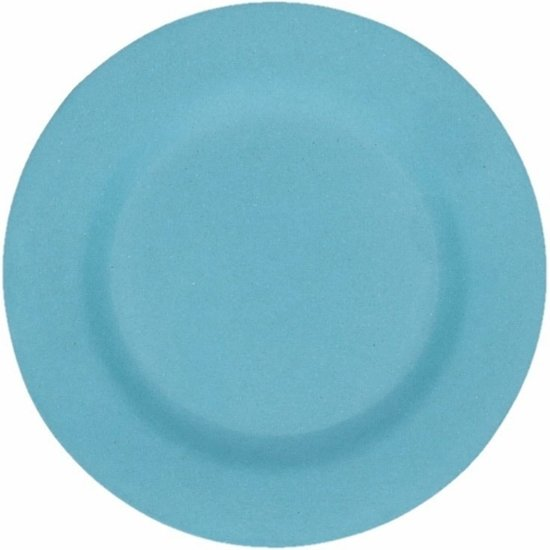 Hard bamboevezel bord lichtblauw 17,5  cm