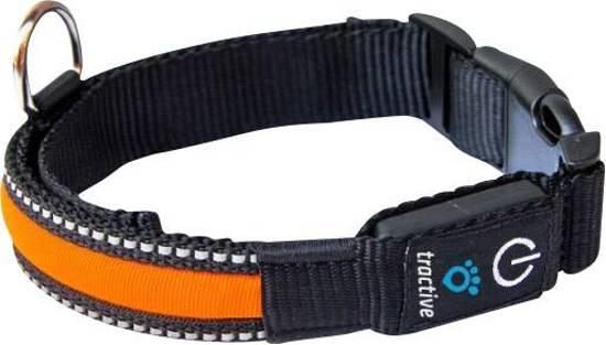 tractive honden halsband met lichtgevende led strip maat s 33 45 cm