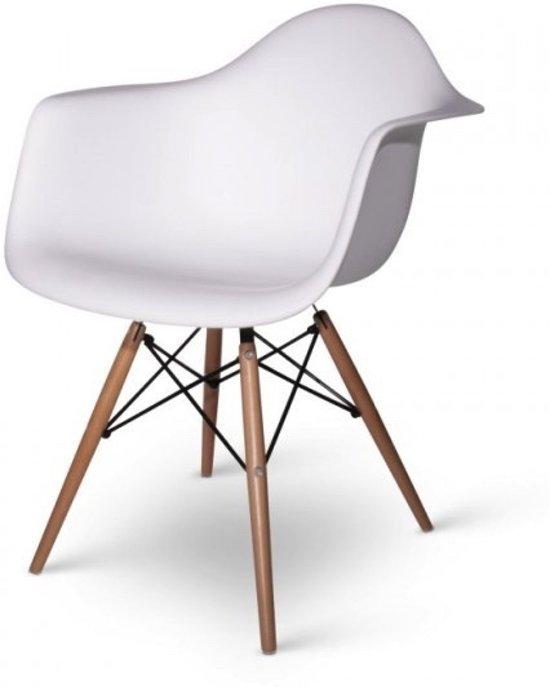 Eames Stoel Houten Poten.Bol Com Kuipstoel Eames Inspired Eetkamerstoel Met Armleuningen