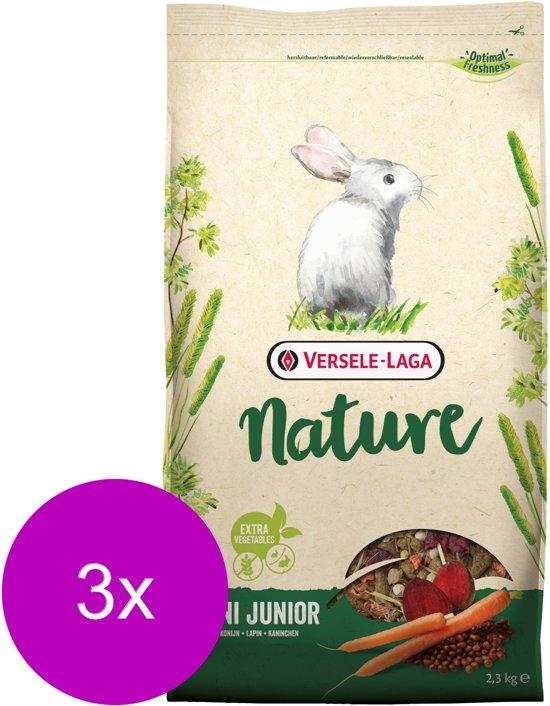 Versele-Laga Nature Cuni Junior - Konijnenvoer - 3 x 2.3 kg