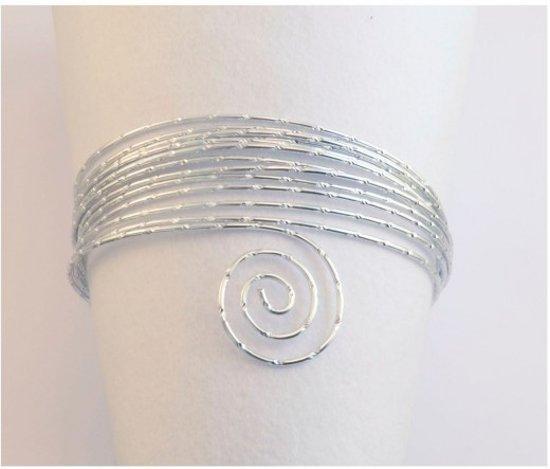 Aluminium draad - Aluminium wire diamond cut 500g 3mm silver - 1 stuk
