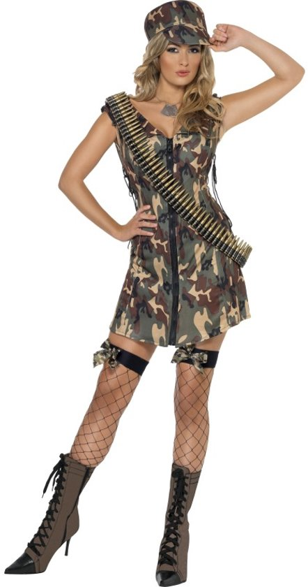 Stoere Dames Carnavalskleding.Bol Com Army Girl Kostuum Legerpakje Carnavalskleding Dames