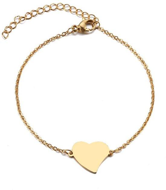 RVS hart armband 17-20 cm   hartje   liefde   bff