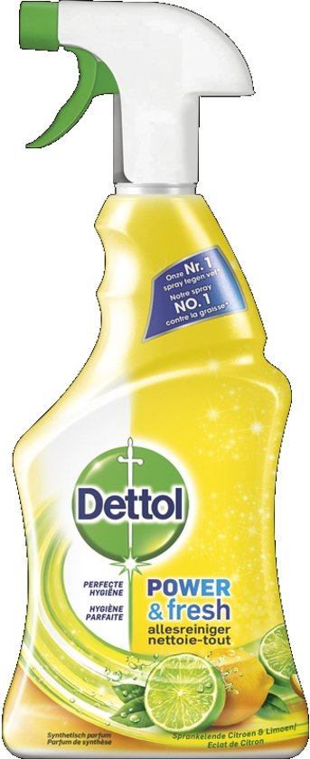 Dettol Power & Fresh - Allesreiniger Spray - Sprankelende Citroen & Limoen - 500 ml