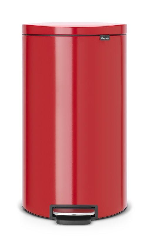 Brabantia Motioncontrol Pedaalemmer 30 L.Brabantia Flatback Prullenbak 30 L Passion Red