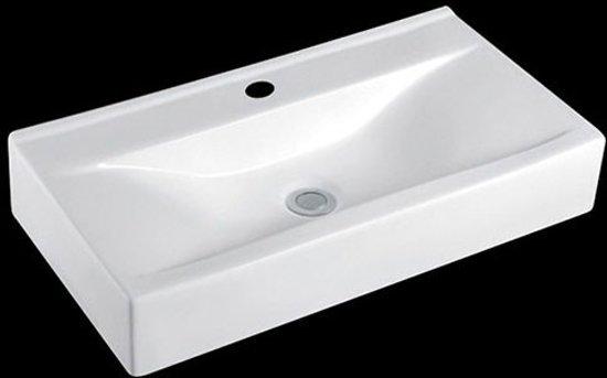Opbouw wasbak rechthoekig: wastafel lavabo fonteintje wasbak