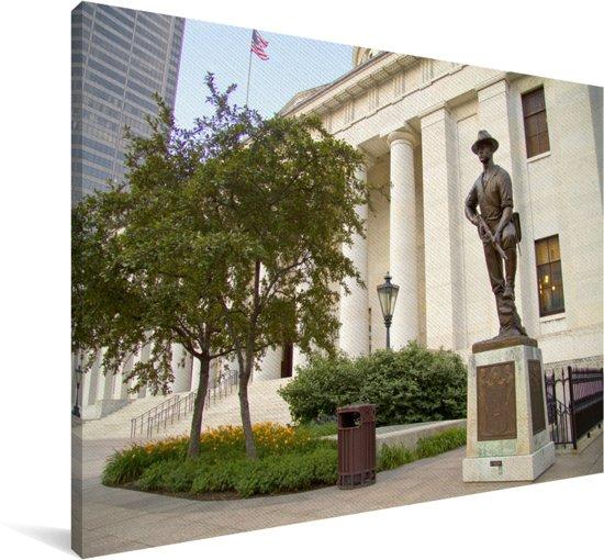 Het gebouw van het statehouse van Ohio in Columbus Canvas 180x120 cm - Foto print op Canvas schilderij (Wanddecoratie woonkamer / slaapkamer) XXL / Groot formaat!