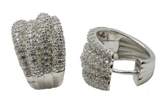 Verlinden Juwelier - Zilver - Oorbellen - Creolen - Zirkonia