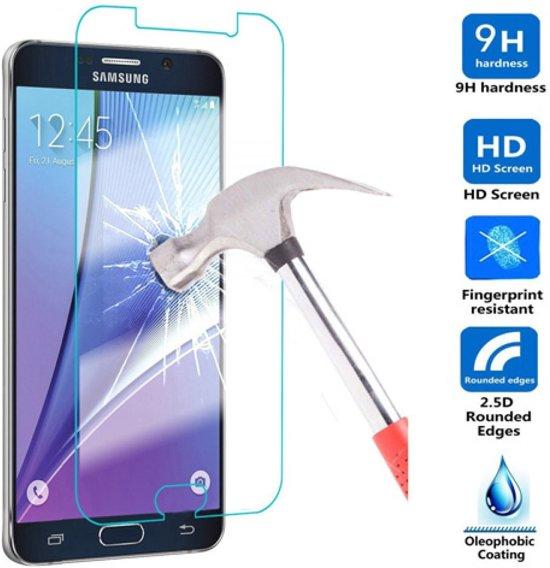 ® Protekt Samsung S7 screenprotector bubbelvrij pantserglas in Krommenhoeke