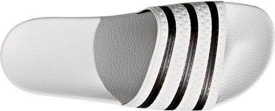 White Black Adilette core Unisex Maat Adidas 36 white Slippers 5 vqXntx77W