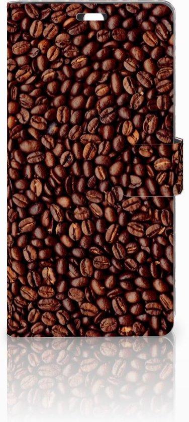 Sony Xperia C5 Ultra Uniek Boekhoesje Koffiebonen Opbergvakjes