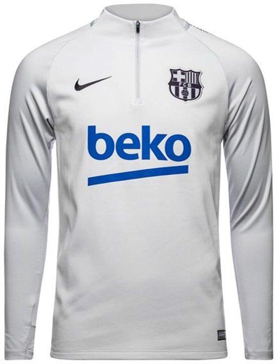 19b65839469 Nike Dry Squad Drill Top FC Barcelona Sportshirt Heren - grijs/navy