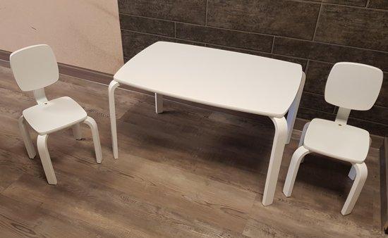Kinderstoel En Tafel Ineen.Bol Com Playwood Set Tafel Met 2 Stoelen Set Kindertafel Met 2