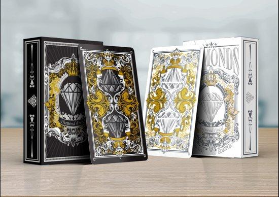 Afbeelding van het spel Diamonds luxe poker speelkaarten Zwart