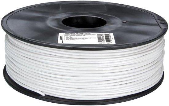 Velleman Filament ABS3W1 ABS Kunststoff 3 mm Weiß ABS Wit 1000g