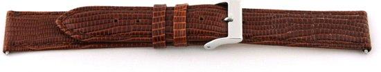 EXC Echt lederen horloge band lizard croco bruin 14mm EX-G62