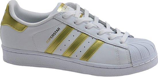 adidas dames sneakers wit met goud