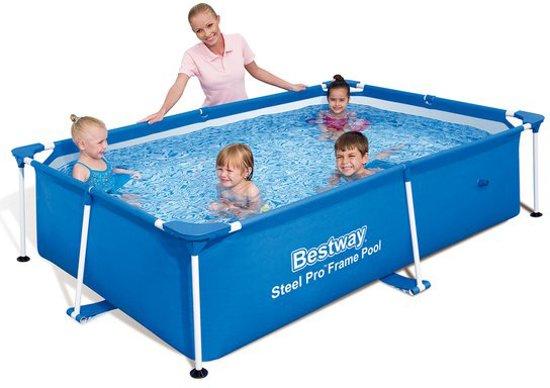Bestway splash frame zwembad 239 x 150 x 58 cm for Zwembad rechthoekig met pomp