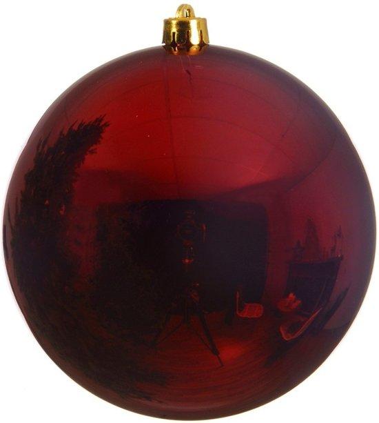 Bol Com 1x Grote Donker Rode Kunststof Kerstballen Van 14 Cm
