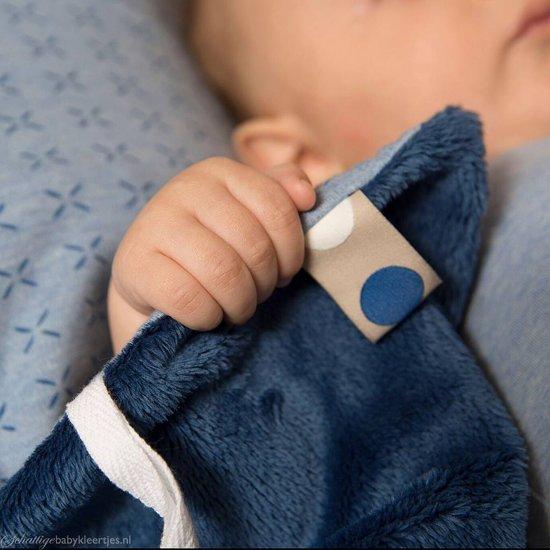 Snoozebaby - knuffeldoekje Comfort Toy Sweet - Idigo blue - 25x25cm